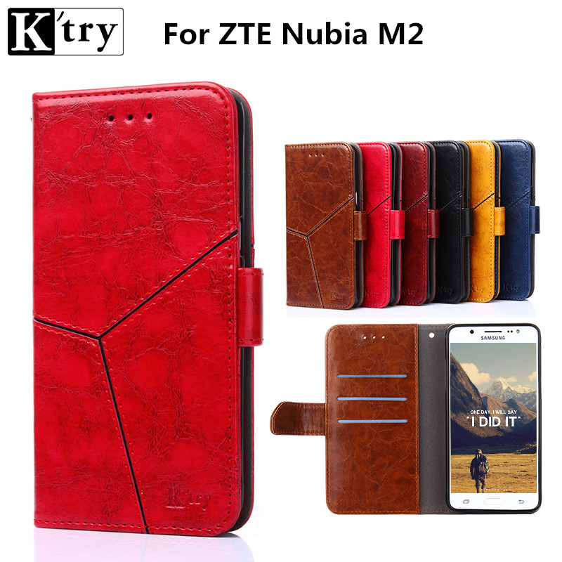 K'try PU Leather + Soft Silicone Wallet Case for ZTE Nubia M2 Case Wallet Flip Cover for ZTE Nubia M2 Protective Phone Fundas
