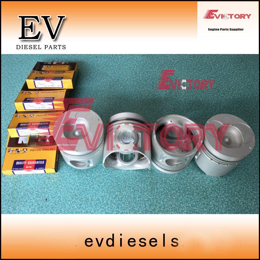 Двигатели для автомобиля Ремонтный комплект для isuzu 4bd1 4bd1t поршневой кольцо гильзы цилиндра полный комплект прокладок коленчатого вала + con
