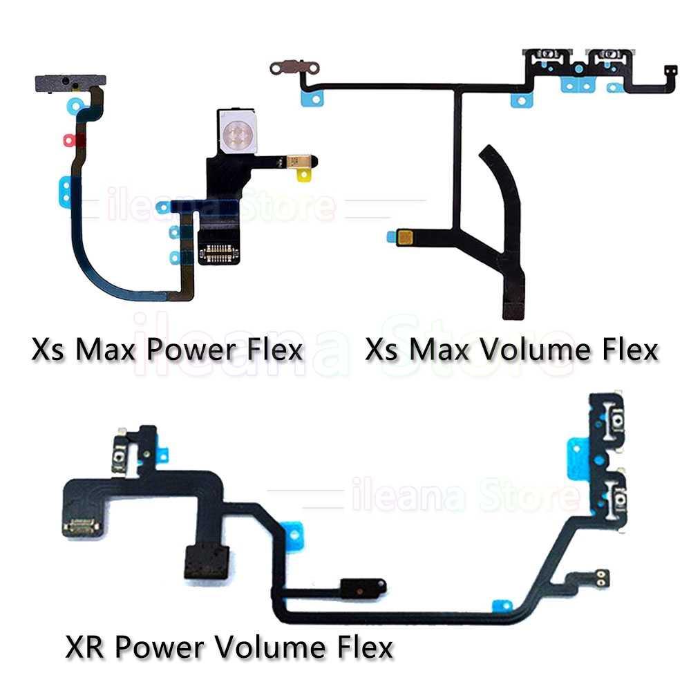 Original power flex para iphone x xs max xr botão de volume mudo power flex cabo peças reparo