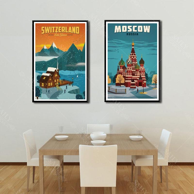 HTB1tog3d8iE3KVjSZFMq6zQhVXaU Hd Print Canvas Art Painting New York Netherlands Amsterdam London Vintage Travel Cities Landscape Posters Wall Art Picture