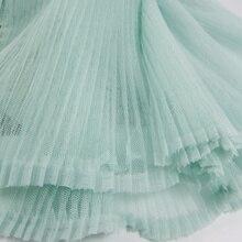 Pleated fabric Silk Organ Screen Light Green