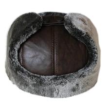 Новинка, мужские шапки из натуральной кожи, высокое качество, мужские шапки из натуральной кожи для взрослых, одноцветные регулируемые шапки, теплые меховые шапки для ушей