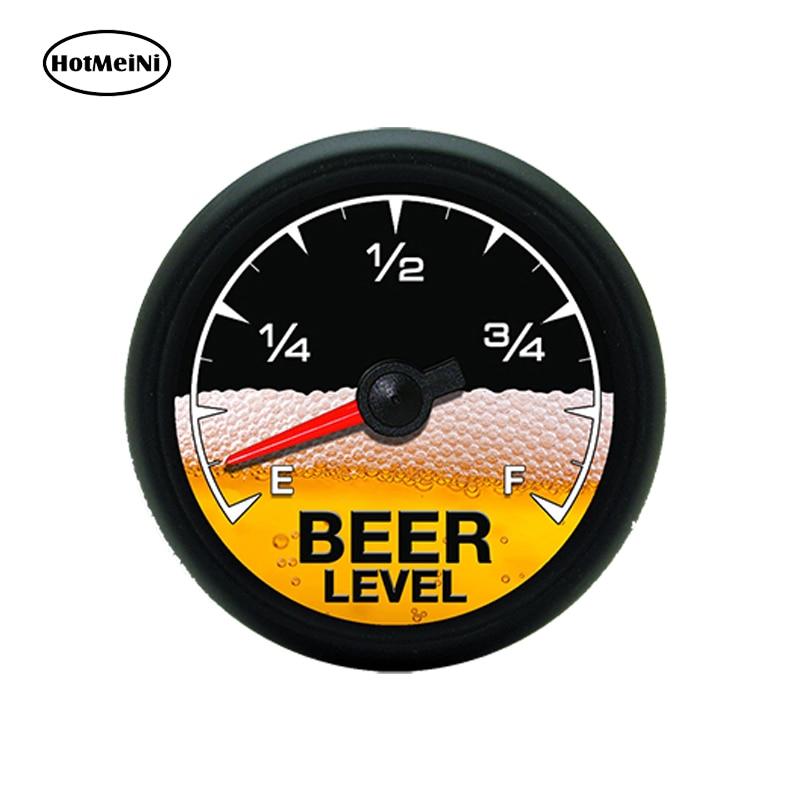 HotMeiNi 13 x 13cm Car Styling Beer Meter Gauge Car Sticker Funny Drinking Cooler Cup Mug Tumbler Graphic Waterproof Accessories