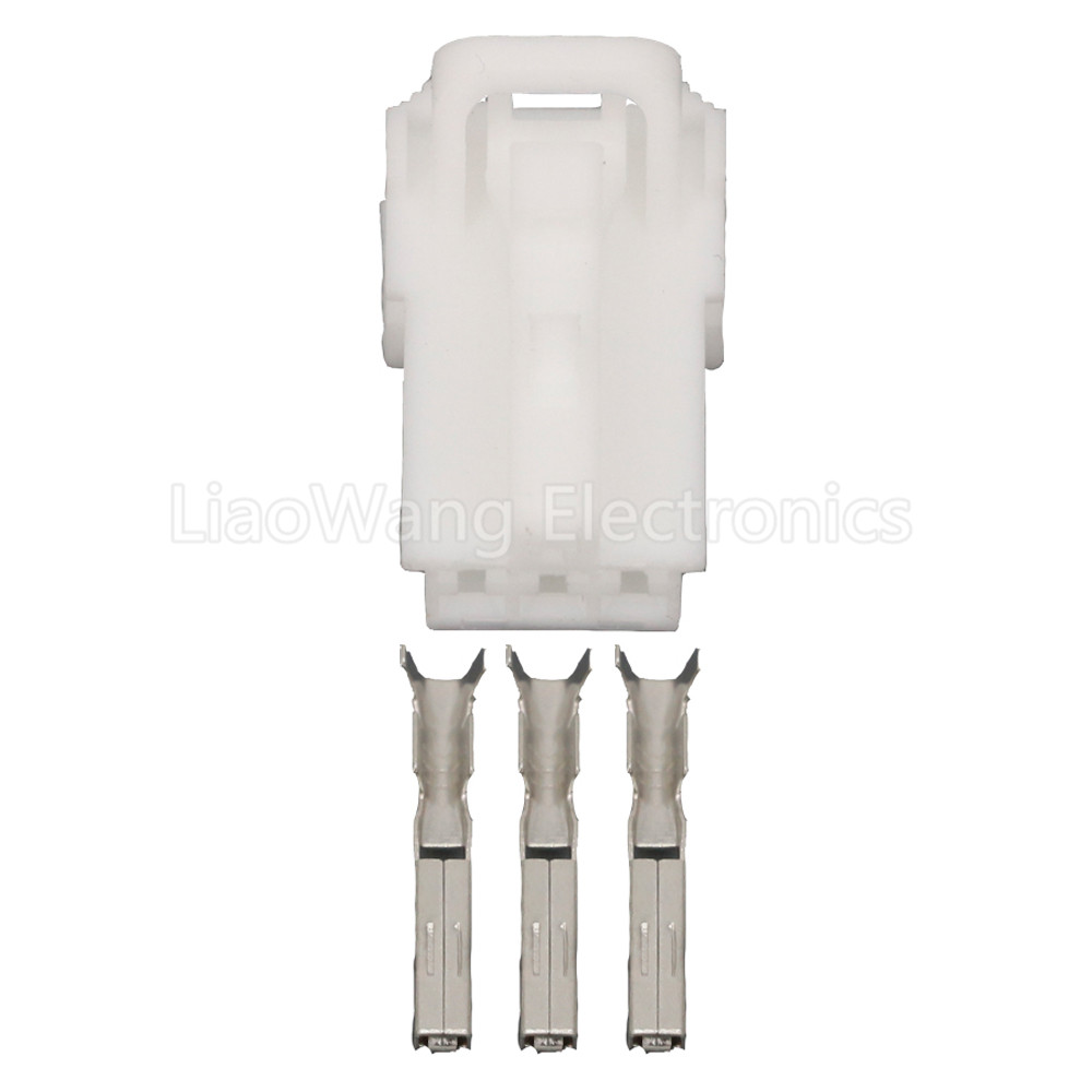 5 Sets 3 Pin White Plastic Cable Harness Connector Automotive Connectors with Terminal DJ7031Y 1 5 21 3P in Connectors from Lights Lighting