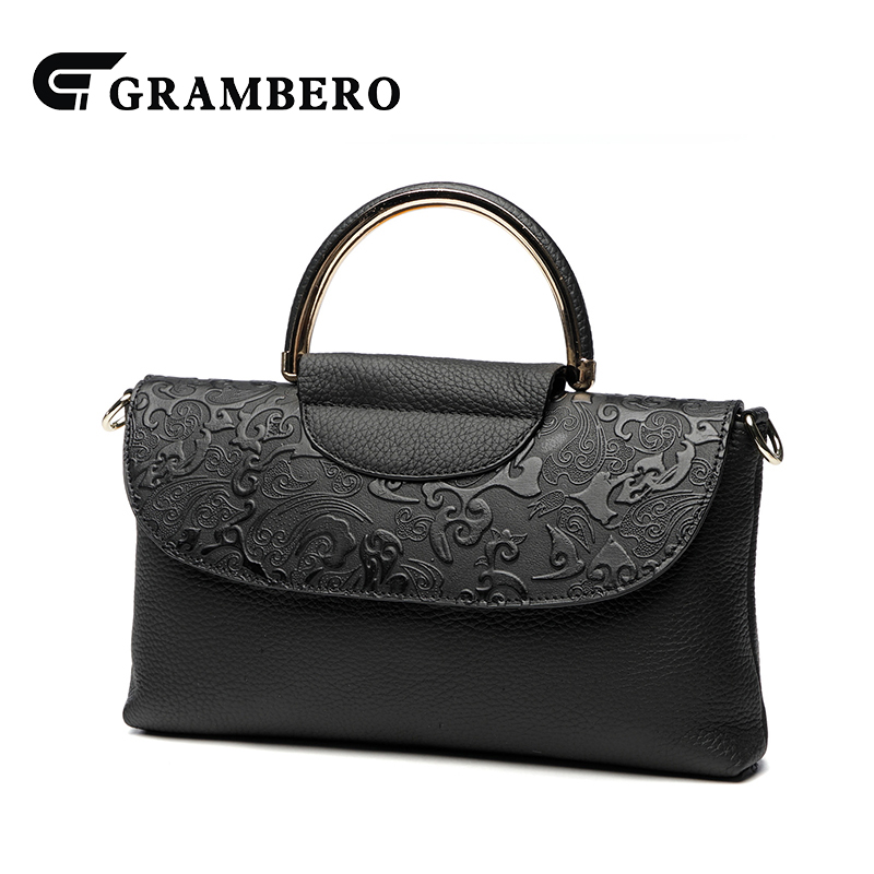Fashion Women Top-handle Bag Genuine Leather Cowhide Embossing Zipper Vintage Handbag Party Shoulder Crossbody Bags Sent Friends 2017 women bag cowhide genuine leather fashion folding handbag chain shoulder bag crossbody bag handbag party clutch long wallet