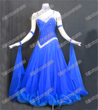 TOP SELL  International Standard Ballroom Dance Competition Dress,Smooth competition Dress, Tango Dance Dress B-0096