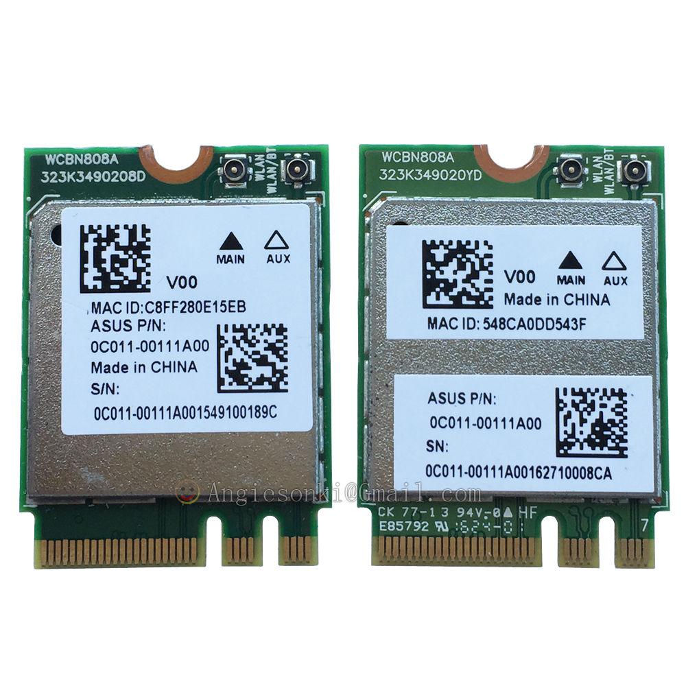 Carte WLAN QCNFA364A 802.11a/b/g/n/ac ABGN-AC carte de Module réseau + Bluetooth V4.1 pour Atheros WCBN808A 867 Mbps NGFF 2.4 GHz/5 GHz
