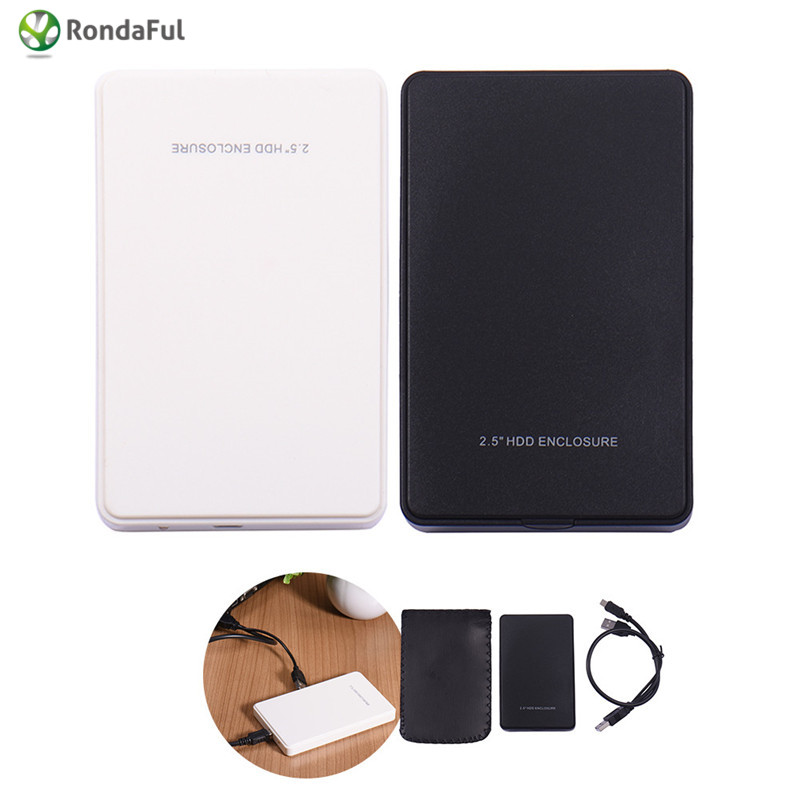 2 Colors USB 2.0 HDD Hard Drive 2.5 inch SATA box 2TB External Enclosure Mobile Disk Box  for Cases laptop hard drivec Hard Disk
