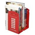 1 пара  Лондонский телефонный стенд  дизайн  противоскользящие книжные концы  книжный держатель  канцелярские принадлежности (красный)