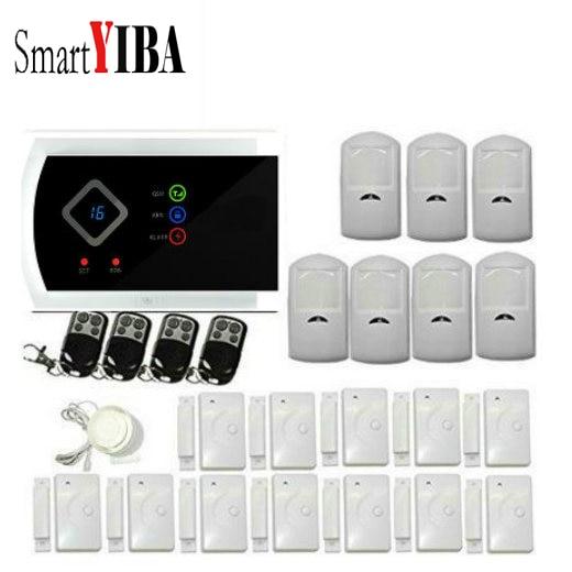 SmartYIBA APP Control Wireless/Wired Alarm System 433mhz PIR Home Security Alarm System GSM Alarmes