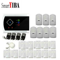 SmartYIBA APP Control Wireless/Wired Alarm System 433mhz PIR Home Security Alarm System GSM Alarmes