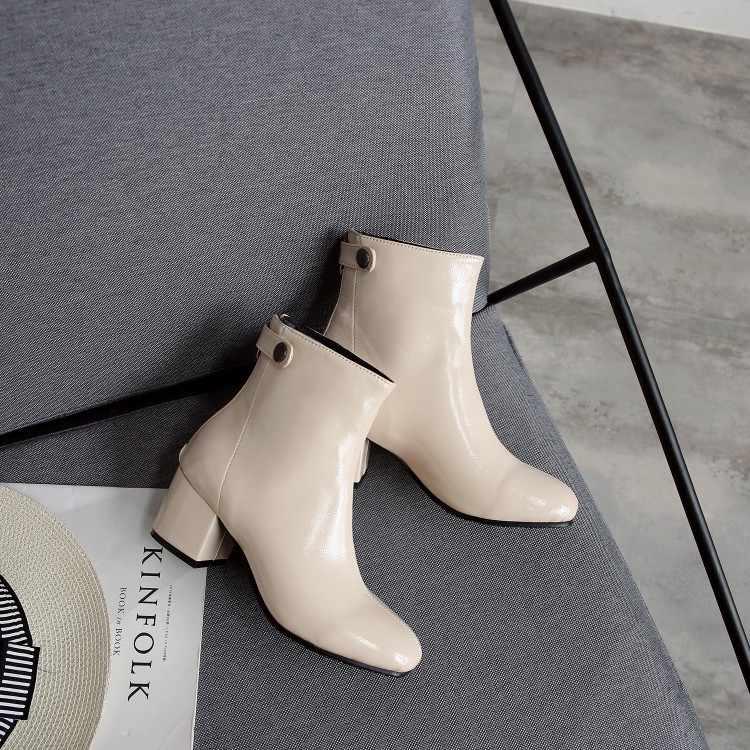 Большие размеры 9, 10, 11, 12; ботинки; женская обувь; ботильоны для женщин; дамские ботинки с пряжкой на молнии сзади