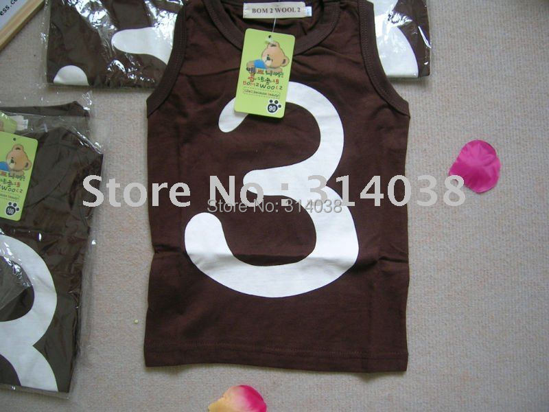 Новые поступления скидка детей 3 слова жилет хлопок жилет футболка жилет для малышей удобные