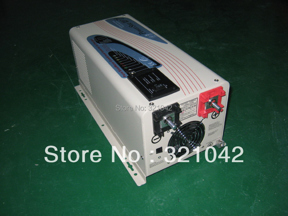 LCD display APC1000W peak power 3000W 3KW DC input 12V or 24V to AC110V or 220V pure sine wave inverter 10A charger