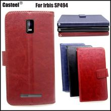 Casteel Classic Flight Series high quality PU skin leather case For Irbis SP494 Case Cover Shield