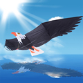 Cometa de Juguete Al Aire Libre Diversión Deportes 3D Eagle Bird Family Travel Tour Suburbio Camping Con Las Herramientas del Vuelo de la Cometa Kid