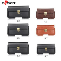 Effelon Outdoor Sports Leather Waist Belt Pouch Case Cover Bag Holster For Multi Smart Phone Smartphone