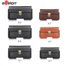 Effelon Outdoor Sports Leather Waist Belt Pouch Case Cover Bag Holster For Multi Smart Phone Smartphone For iPhone 5 5S  6S 7 7s