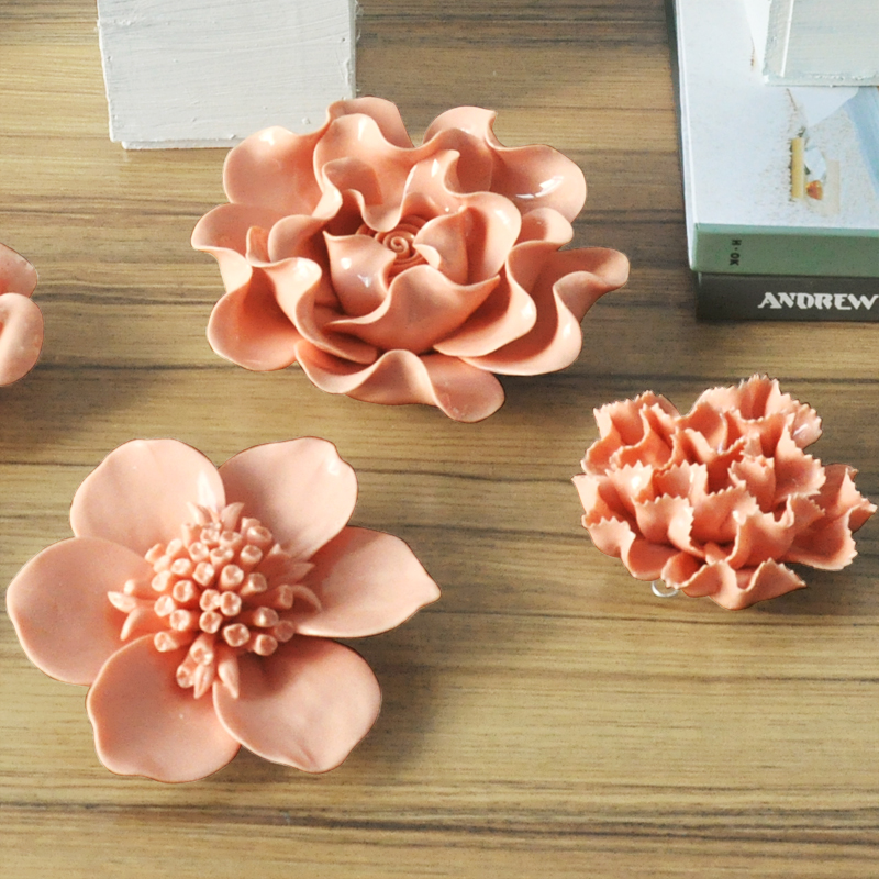 Popular ceramic wall decor buy cheap ceramic wall decor for Decorative flowers for crafts
