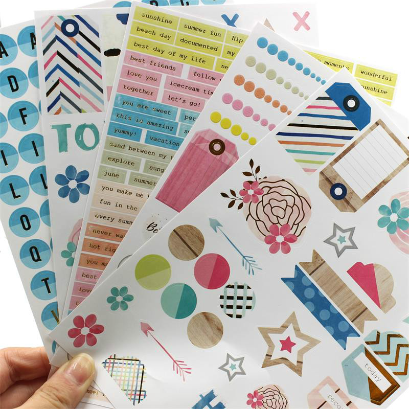 YPP CRAFT My Best Friend Self- adhesive Paper Sticker for Scrapbooking Happy Planner/Card Making/Journaling Project