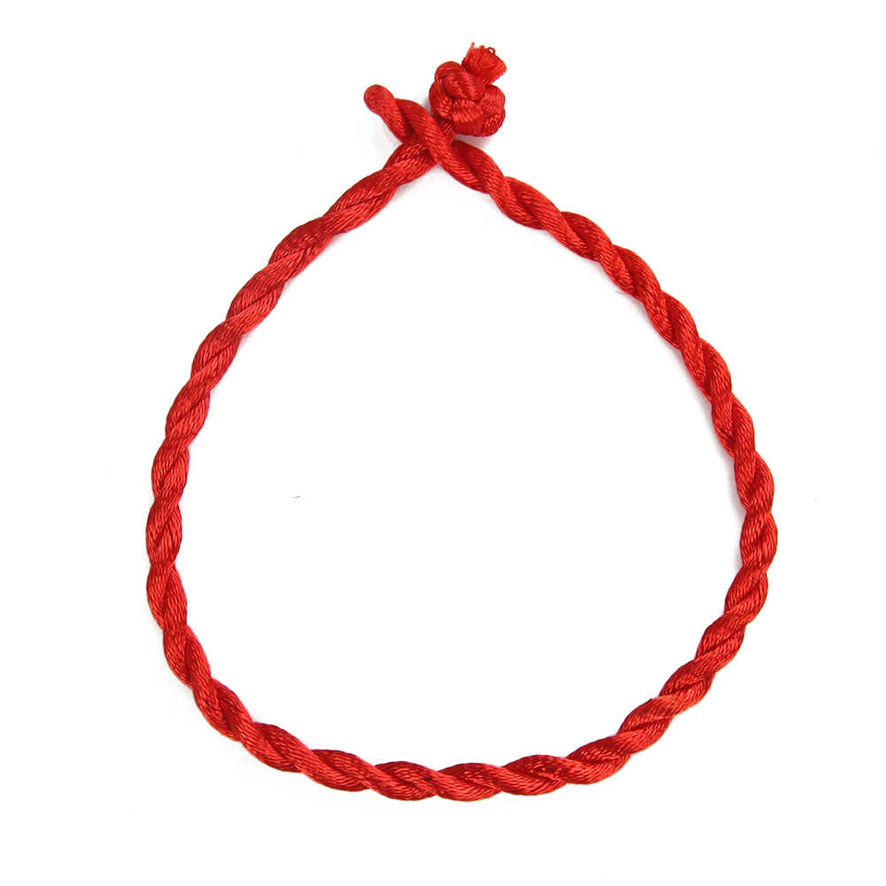 10pcs Red Rope Weave Lucky Handmade Bracelet Traditional Chinese Knot Wax String Bracelet Jewelry Gifts For Women Men