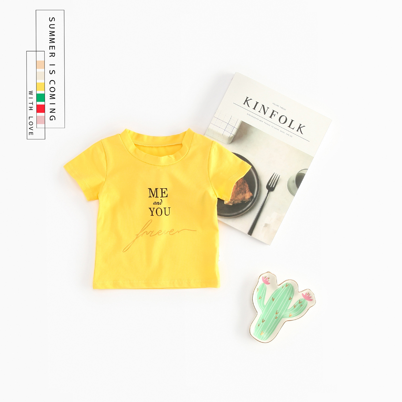 Baby Girls T-shirt Summer Style Shortsleeve Cute Cartoon T-shirt for Girl Tops Shirt Kids Children Outwear Baby Boys Clothes