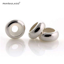Pandulaso Interval Stopper Spacer Beads Fit Charm Silver 925 Original Bracelets & Bangles Women DIY Beads for Jewelry Making 1pc(China)
