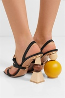 Geometric Two Kind Heel Women Ball Pumps Jacquemus Three Strap Ball Heel Women Sandals Summer Mule Sandals Shoes Women