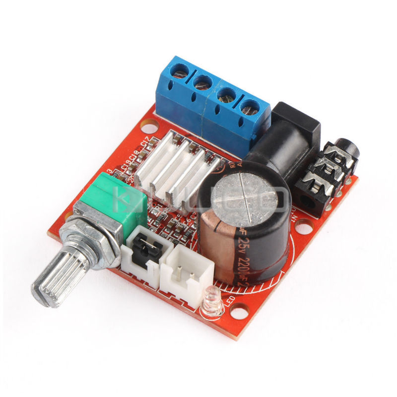 DC 12V Class D stereo Amplifier 10W+10W Dual-Channel Amplifier Finished Board for Desktop /Home Theater Amplifier etcDC 12V Class D stereo Amplifier 10W+10W Dual-Channel Amplifier Finished Board for Desktop /Home Theater Amplifier etc