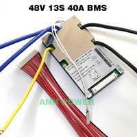 Batterie Li-ion BMS 13 S 48 V 20A, 30A, 40A et 50A BMS pour batterie lithium-ion 48 V 500 W-2000 W avec fonction d'équilibrage