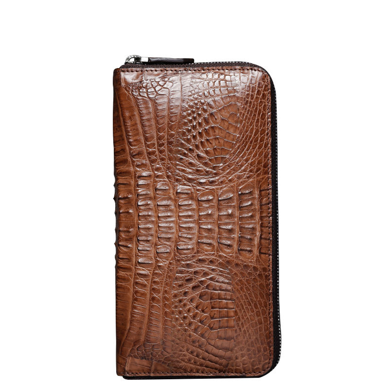2018 New luxury brand card bag casual men wallet leather men wallet real crocodile leather leather homemade handbag men
