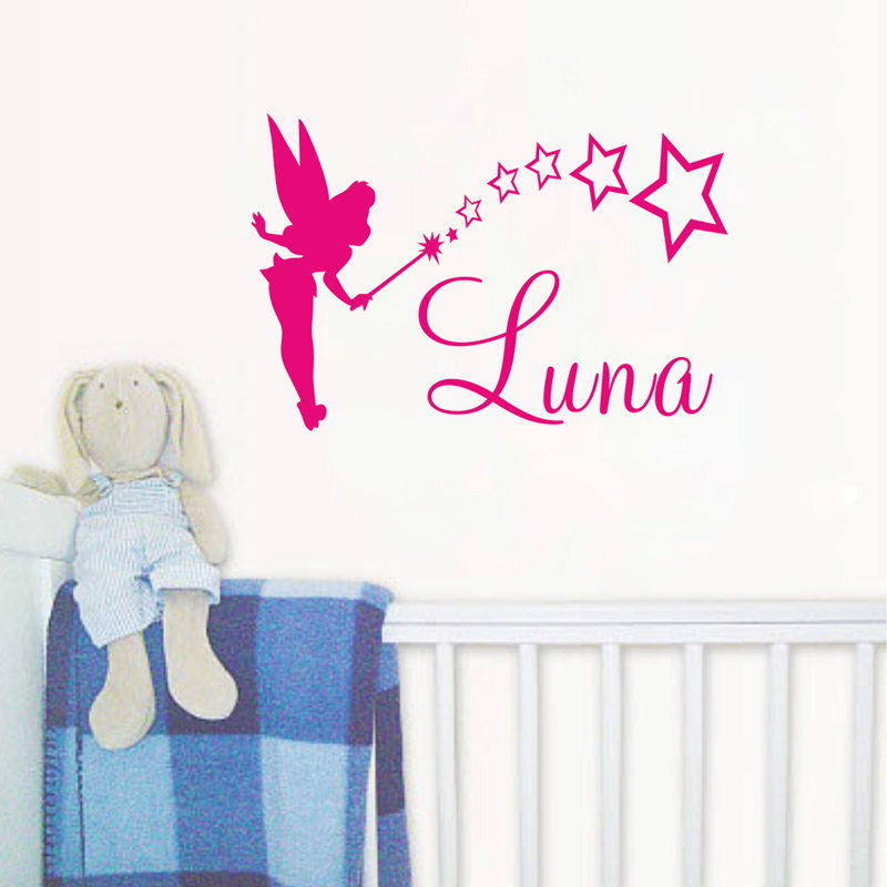Name Wall Decals Butterfly Wall Sticker For Girl Nursery Stars Art Vinyl Decal