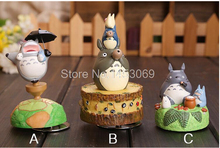 3 pcs/set Cute Lovely Totoro Music Box Totoro Action Figure Collectible Toys Dolls Child Toys OF109