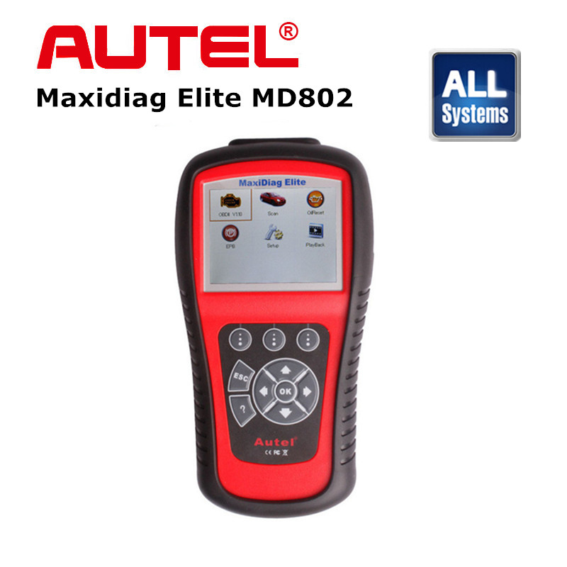 Autel MaxiDiag Elite MD802 Full System with Data Stream (including MD701 MD702 MD703 and MD704) Diagnostic Tool new rear brake disc rotor for ducati 750 monster 750 ss c 750 ss supersport i e 800 monster dark i e 800 sport 2003 2004 03 04