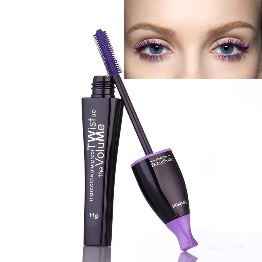 2017Eye Mascara Stretch Thick Curly Colorful Cosplay Makeup Tool Pro