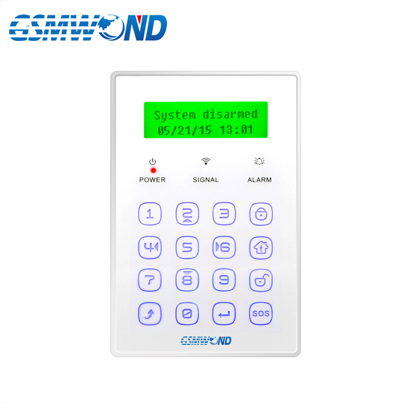 Two Way Wireless Keyboard Touch keyboard 433MHz wireless For Wolf Guar GSM Alarm System