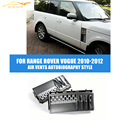 Abs auto car side air vents autobiografía estilo fit para land range rover l322 vogue facelift 2010-2012