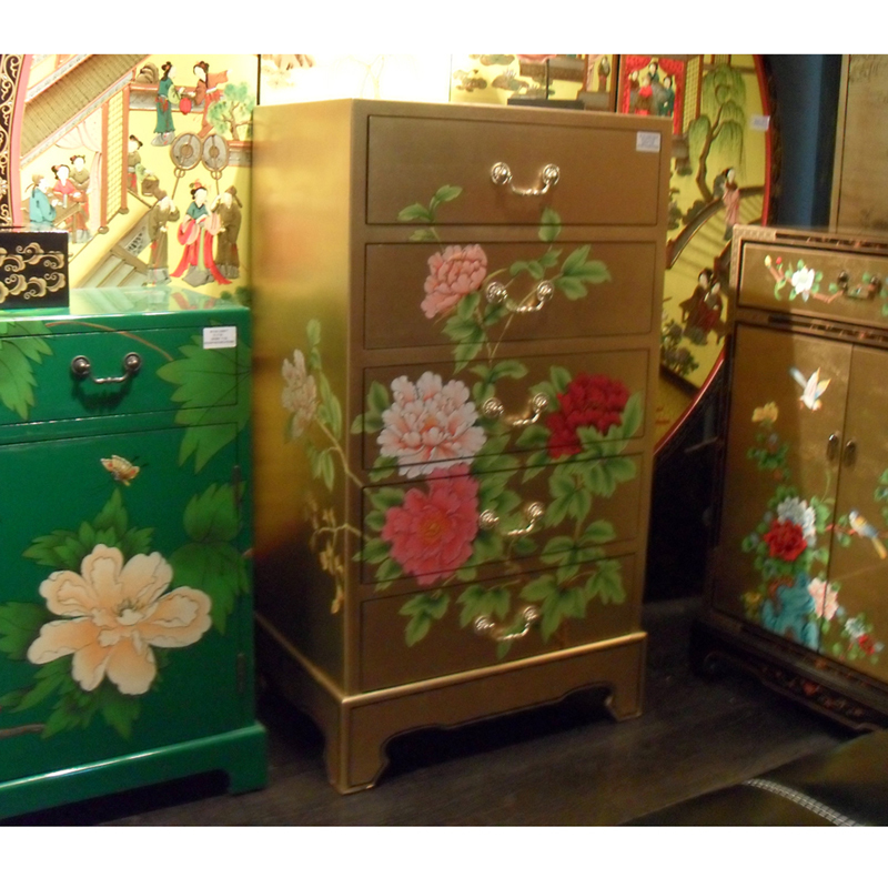 The new three dimensional classical chinese hand painted for Hand painted oriental furniture