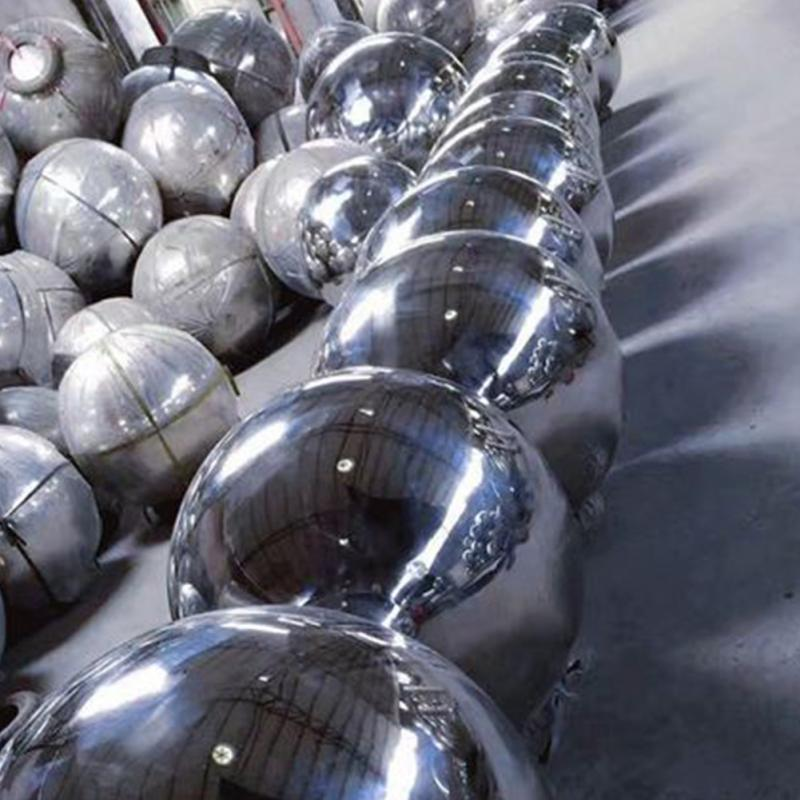 15cm/12cm/10cm/8cm/5.1cm High Brightness Shine Sphere Stainless Steel Mirror Sphere  Ball Home Garden Ornament Decoration