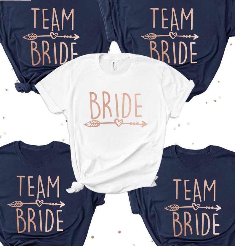 Beste Paddy Ontwerp Vrijgezellenfeest Team Bruid T shirt Bruiden Squad KS-84