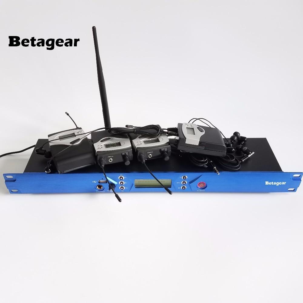 Betagear BT5101 Personal Monitor беспроводной системы UHF передатчик 4 Приемник DJ monitor pro sound system для сцены, концерт, studio