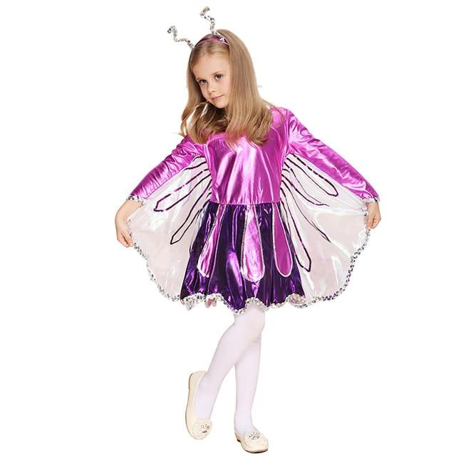 Baby Girl Butterfly Costume Shiny Purple and Fuschia Fancy Dress Fairytale Costume Deluxe Mariposa Costume Carnival  sc 1 st  AliExpress.com & Baby Girl Butterfly Costume Shiny Purple and Fuschia Fancy Dress ...