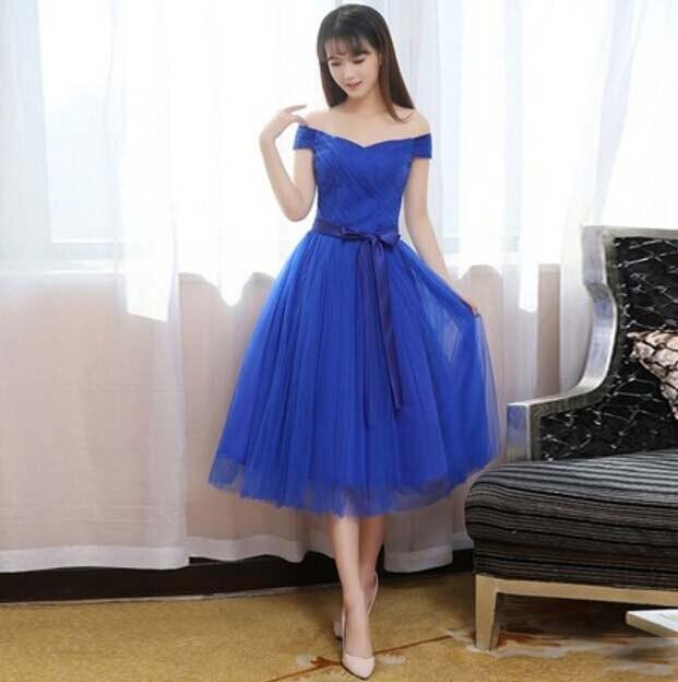 Blue Grecian Wedding Dress