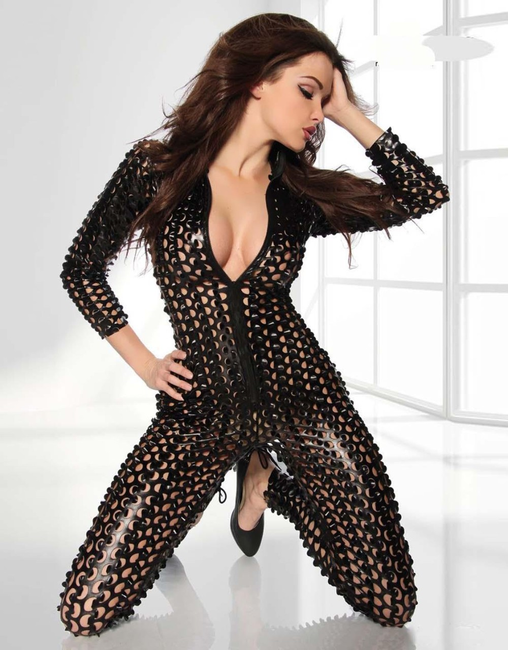 Black-Metallic-Clubwear-Catsuit-with-Cutouts-W7711C-3(1)