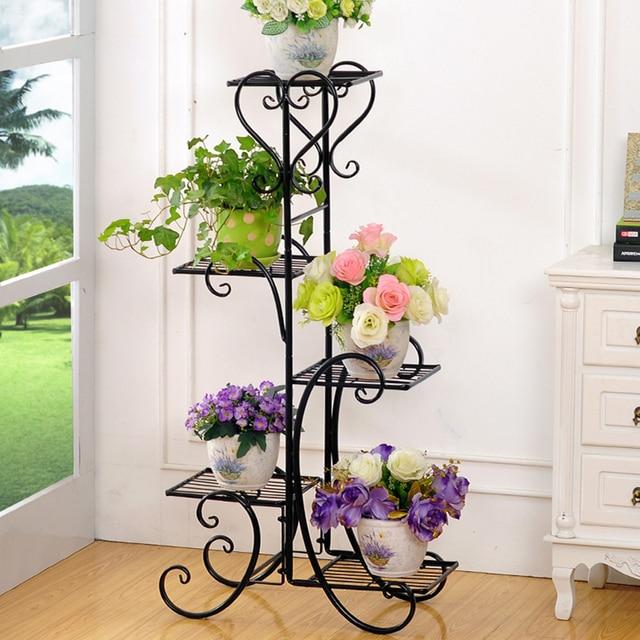 4 Tier Plant Stand Indoor Outdoor Plant Corner Shelf Flower Pot