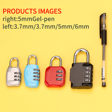 Buy two get one free zinc alloy combination lock case bag zipper locker dormitory gym drawer color padlock