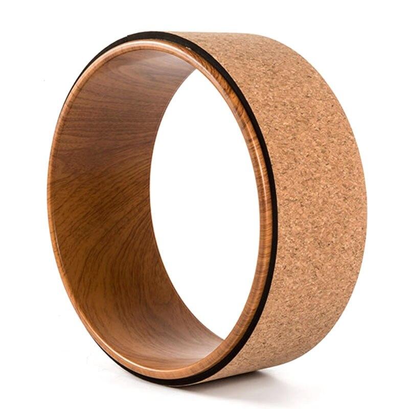 @1  Деревянные круги для йоги Мягкая древесина Сделано Профессиональный пилатес Колесо для йоги Бодибилд ①