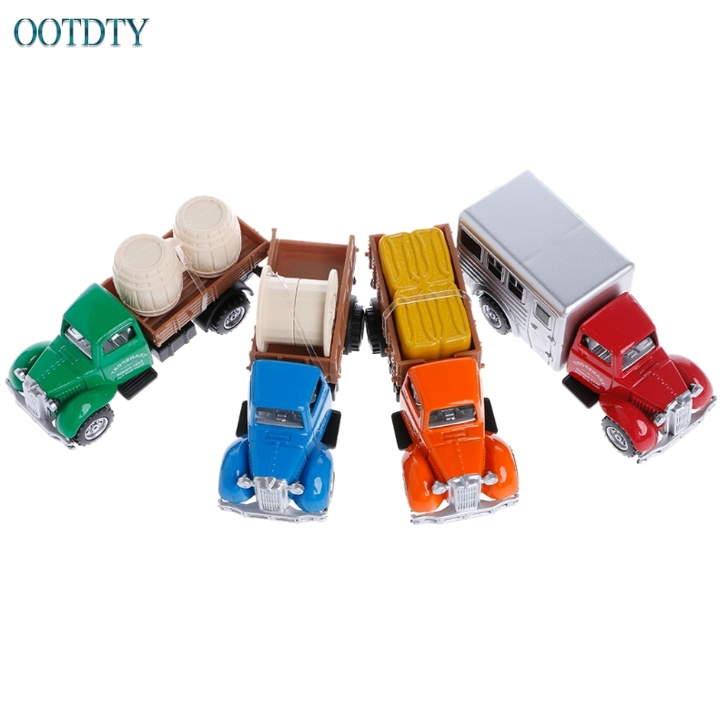 New Arrival Working Truck Vintage Vehicles Model Kids Playing Car Toy Roleplay Action #330
