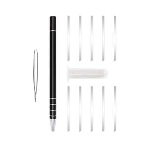Image 3 - 1 ปากกาแกะสลัก + 10 ใบมีดTrimmersผมDIYทรงผมSalon Magicแกะสลักปากกาสแตนเลสตัดผมตัดผมกรรไกร