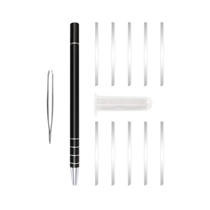 Image 3 - 1 Hair Engraving Pen+10 Blades Hair Trimmers DIY Hairstyle Salon Magic Engraved Stainless Steel Pen Barber Hairdressing Scissors